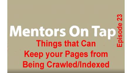 Title Slide for Mentors On Tap, Episode 23
